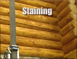 Log Home Staining  Athens County, Ohio